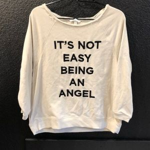 Off the shoulder Victoria Secret sweater!